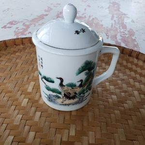 Other - Crane tea mug with lid